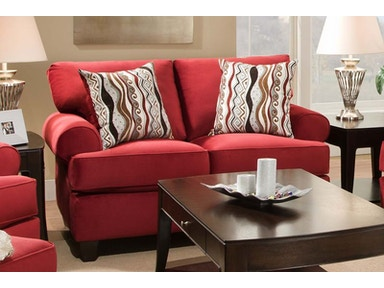 Red Jackpot Loveseat