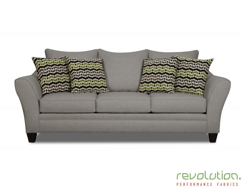 Corinthian Living Room Delaney Gray Sofa