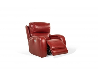 Tom Red Leather Power Recliner with Power Headrest