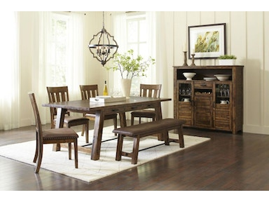 Valley Dining Table 4 Chairs And Bench
