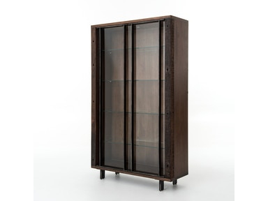 Geoff Bookcase W/Glass Shelves
