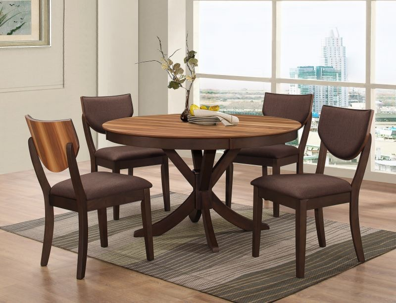 Walnut Dining Table and 4 Chairs Room \u0026 Sets | Bob Mills Furniture