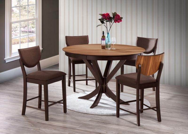 Lifestyle Walnut Pub Table And 4 Pub Chairs