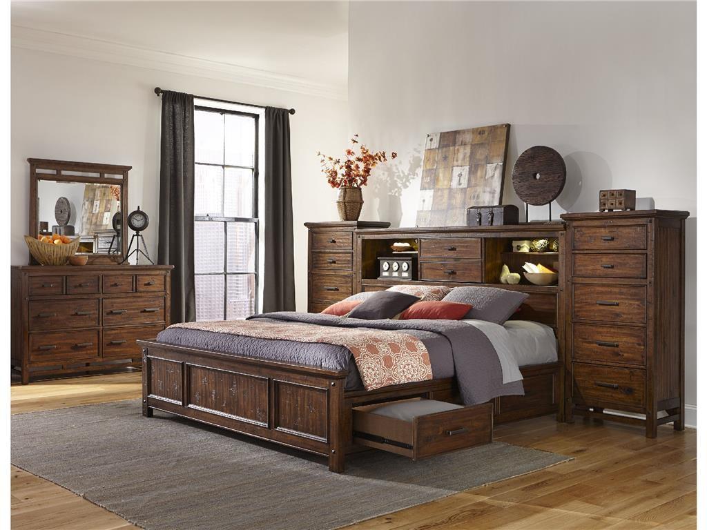 Craft Designs Wolf Creek Queen Storage Bed No Piers