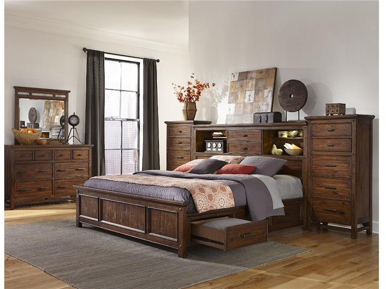 Craft Designs Wolf Creek Queen Storage Bed No Piers