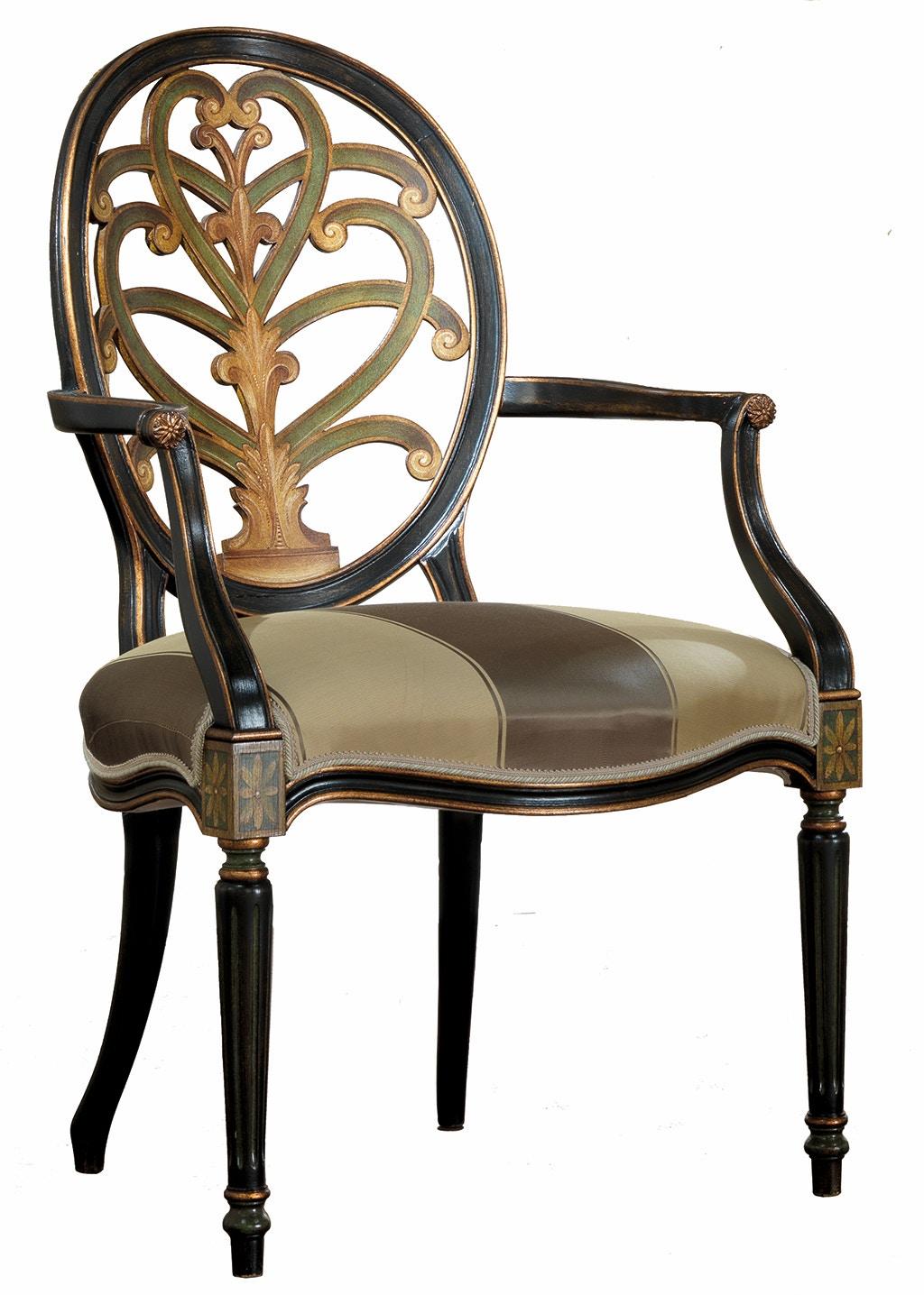 Von Hemert Interiors Italian Imports Mfr: XI29 Arm Chair #1544 P