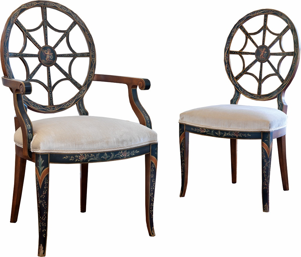 Delightful Von Hemert Interiors Italian Imports Mfr: XI29 Arm Chair #1571 P
