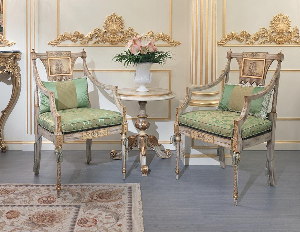 Von Hemert Interiors Italian Imports Mfr: XI29 Arm Chair #1645 P