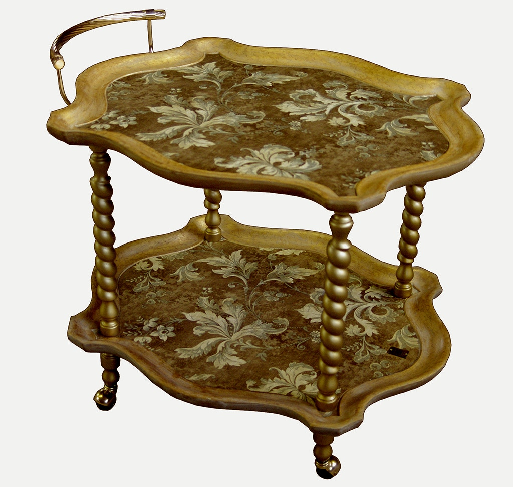 Wonderful Von Hemert Interiors Italian Imports Mfr: XI114 Tea Cart #477 00 2666