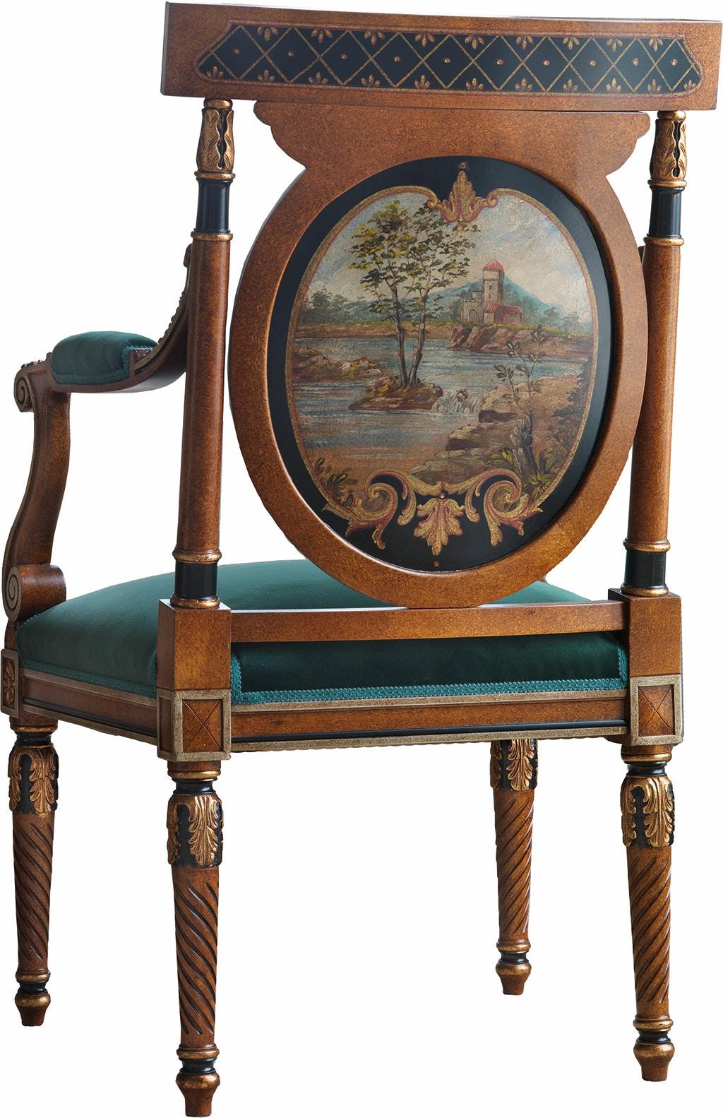 Von Hemert Interiors Italian Imports Mfr: XI29 Arm Chair #1503 P