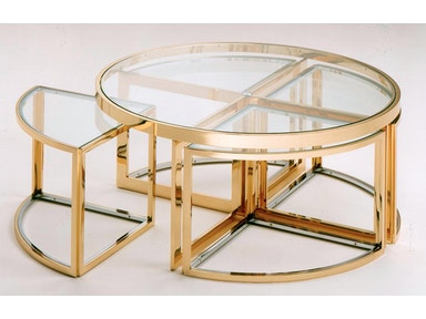 von Hemert Interiors Italian Imports Mfr: XI81 Cocktail table #PIU-3