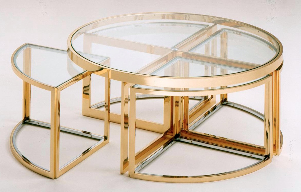 Von Hemert Interiors Italian Imports Mfr: XI81 Cocktail Table #PIU 3