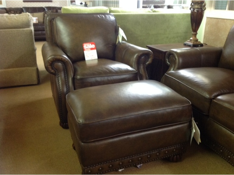 Astonishing Craftmaster Leather Chair And Ottoman Ibusinesslaw Wood Chair Design Ideas Ibusinesslaworg