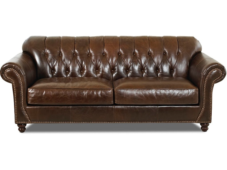 Simple Elegance Living Room Leather Sofa, Chesterfield Whiskey ...