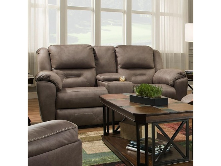 Headrest Double Reclining Sofa With Console