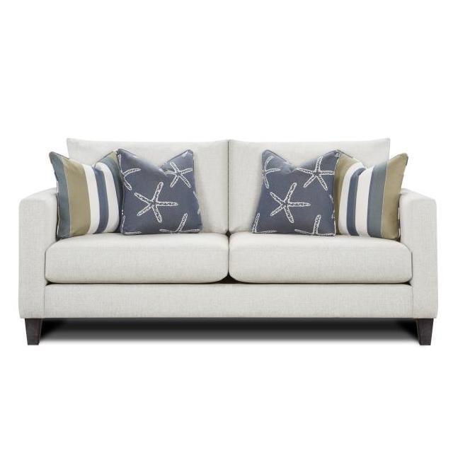 Bon Fusion Slip Cover Sofa, White Grande Linen 806898