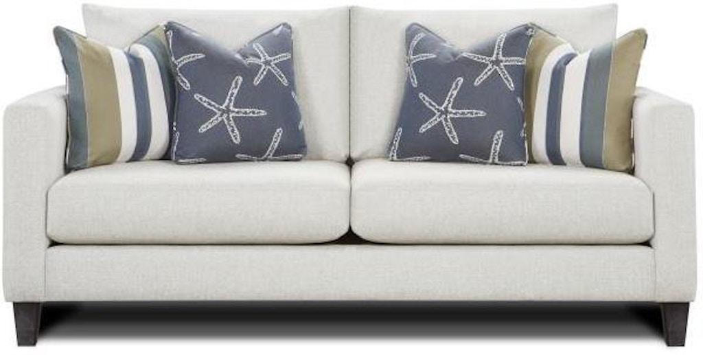 Slip Cover Sofa, White Grande Linen
