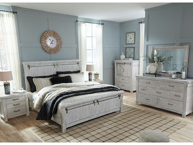 Signature Design by Ashley Bedroom Queen Bed Set | Queen Bed, Dresser,  Mirror PKG-740QB