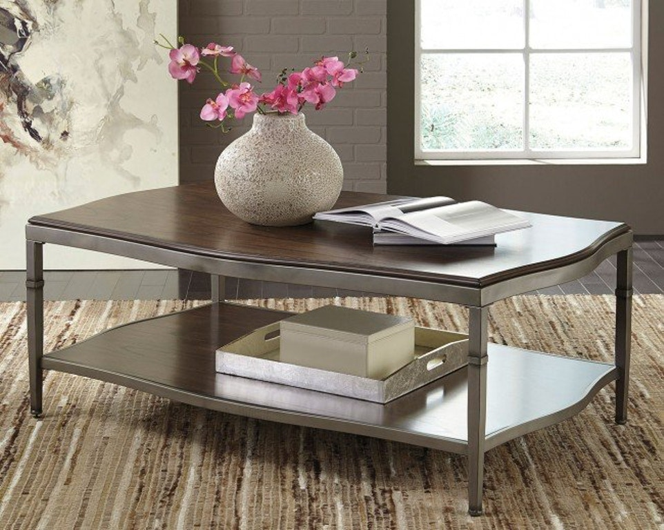 Ashley Benchcraft Tail Table And 2 End Tables Sold As Set