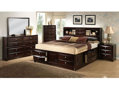Lifestyle Bedroom King Bed Set King Bed Dresser And Nightstand