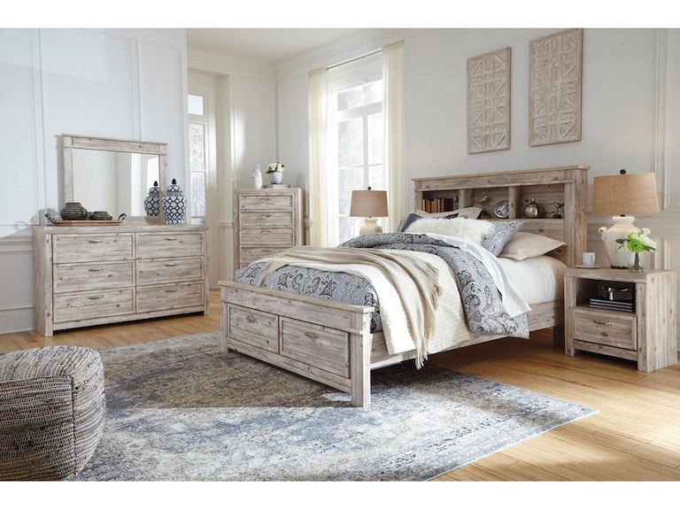 Benchcraft Bedroom Queen Bed Set Queen Bed With Bookcase Headboard