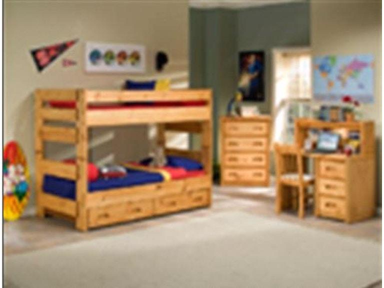 Trendwood Youth Bunk Bed Twin Over Full Pkg 472 Furnitureland