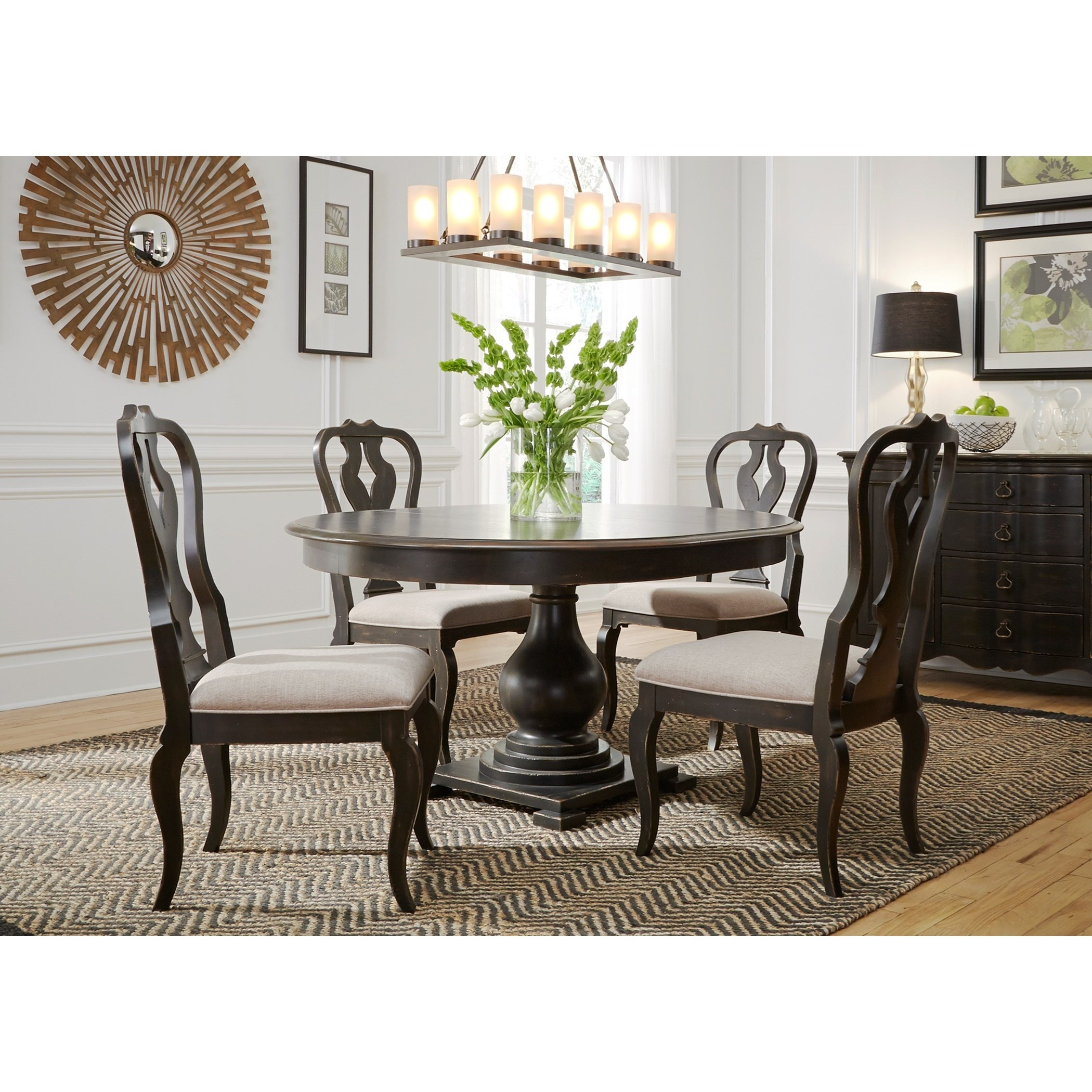 4 chair living room table liberty table chairs pkg4936 dining room tables furnitureland delmar delaware