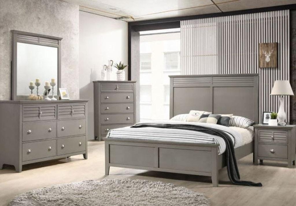 Queen Bed Set | Queen Storage Bed, Dresser, Mirror, Nightstand