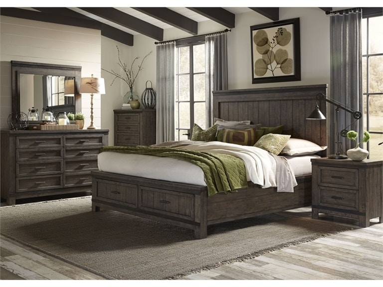 Liberty Furniture Bedroom Queen Bed Set | Queen Storage Bed, Dresser ...