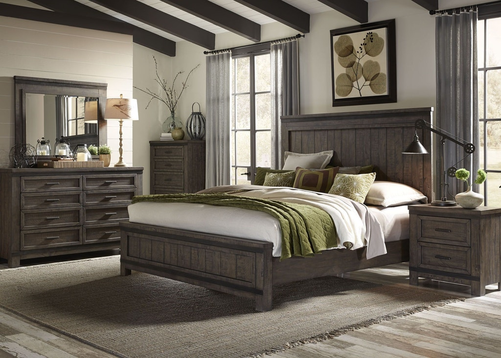 King Bed Set | King Storage Bed, Dresser, Mirror, and Nightstand