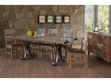 Ifd Dining Room Table And Four Chairs Pkg 962 Furnitureland