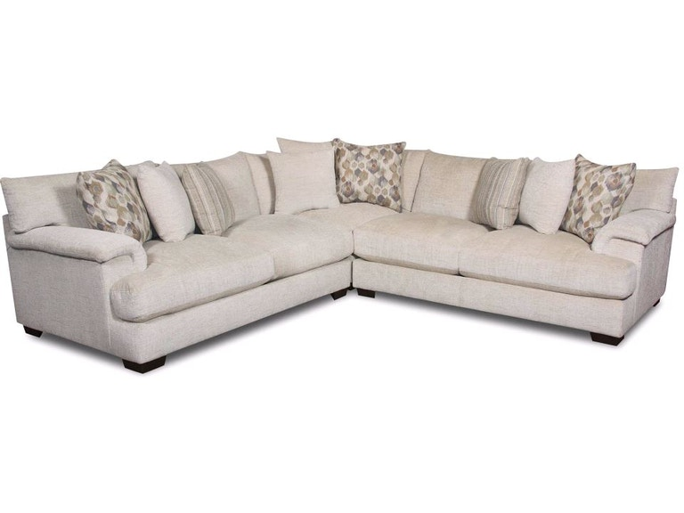 American Furniture Sectional And Ottoman Pkg Af15