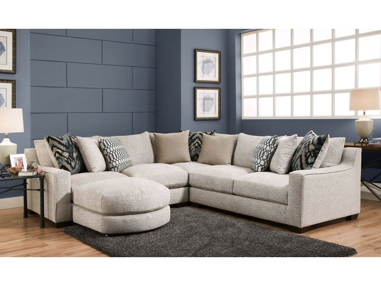 American Furniture Living Room Three Piece Sectional And Ottoman Pkg Af201 At Furnitureland