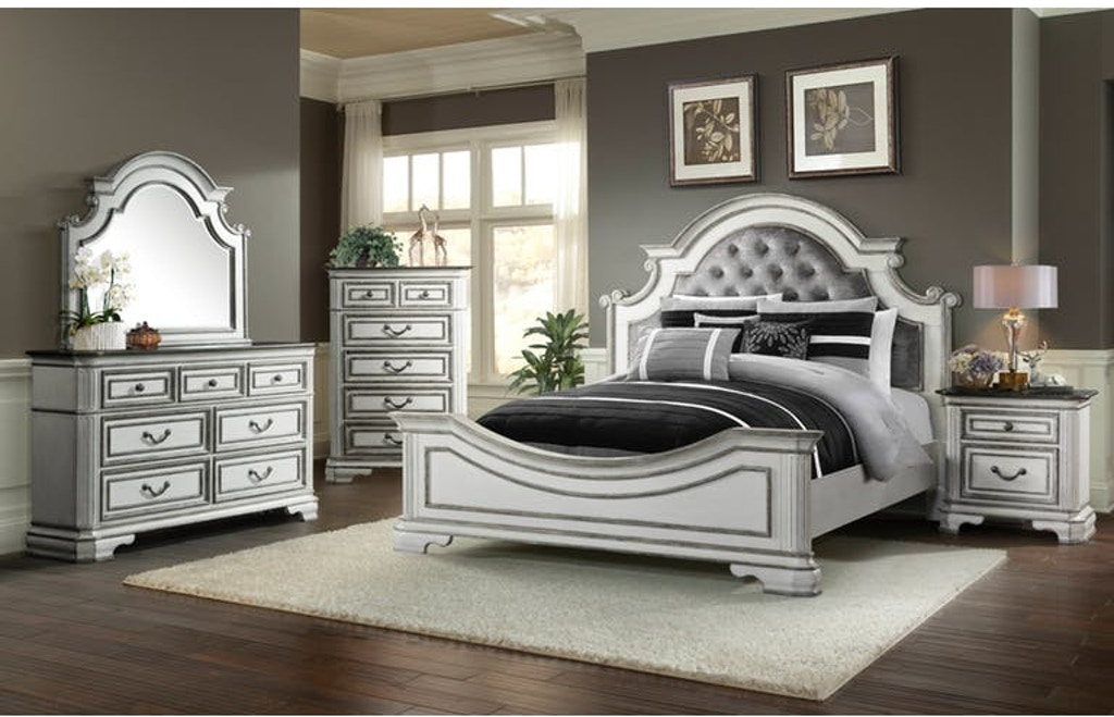 King Bed Set | King Bed, Dresser, Mirror, and Nightstand