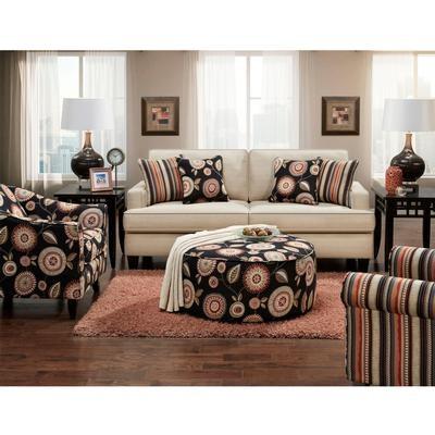 Beautiful Fusion Living Room Sofa, Accent Chair, Ottoman PKG F301 At FurnitureLand