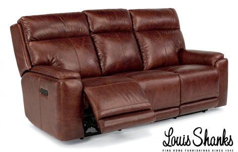 Beau Flexsteel Sienna Leather Power Reclining Sofa