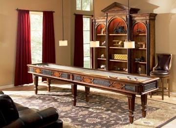 Ambella Home Elegant Scroll Shuffleboard Table   12u0027 29000 935 012