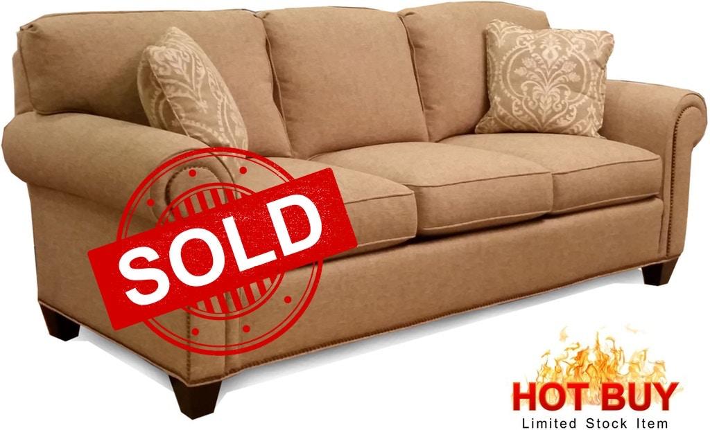 Three Cushion Sofa W Nail Trim