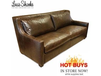 Salina Leather Sofa Price 3 800 00 1 999 Southern Furniture Company