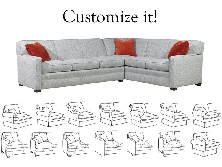 Sherrill Furniture Living Room Design Your Own Sectional 9600 Sectional Louis Shanks Austin
