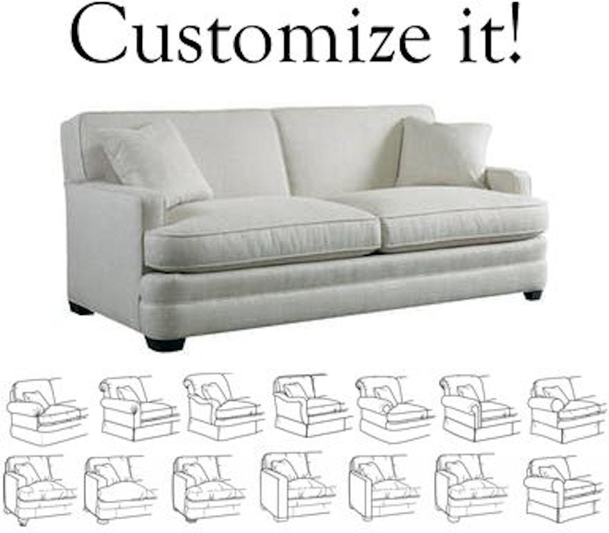 Sherrill Furniture Living Room Design Your Own Sofa 9600-sofa - Louis Shanks - Austin, San Antonio