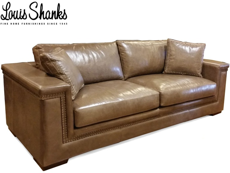 Artistic Leather Sofa With Hand Lacing Al 1221 3 S