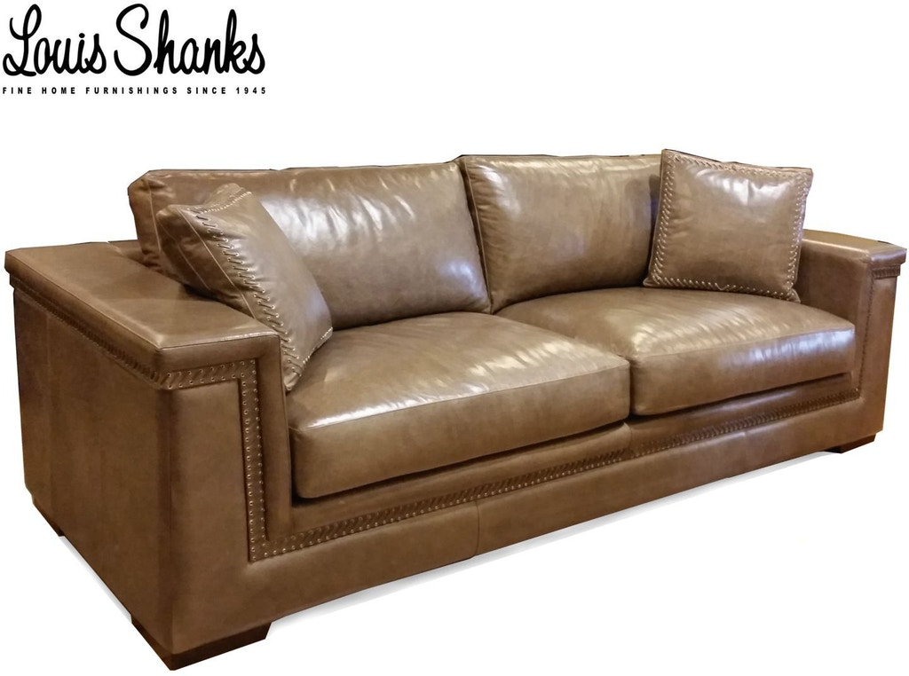 Artistic Leather Living Room Leather Sofa With Hand Lacing Al 1221 3