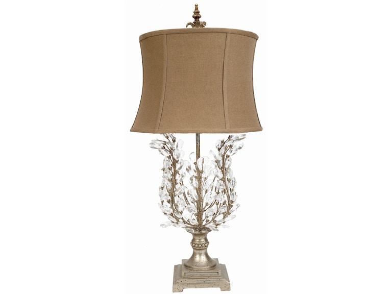 Old World Design Crystal Leaf Table Lamp La 6750