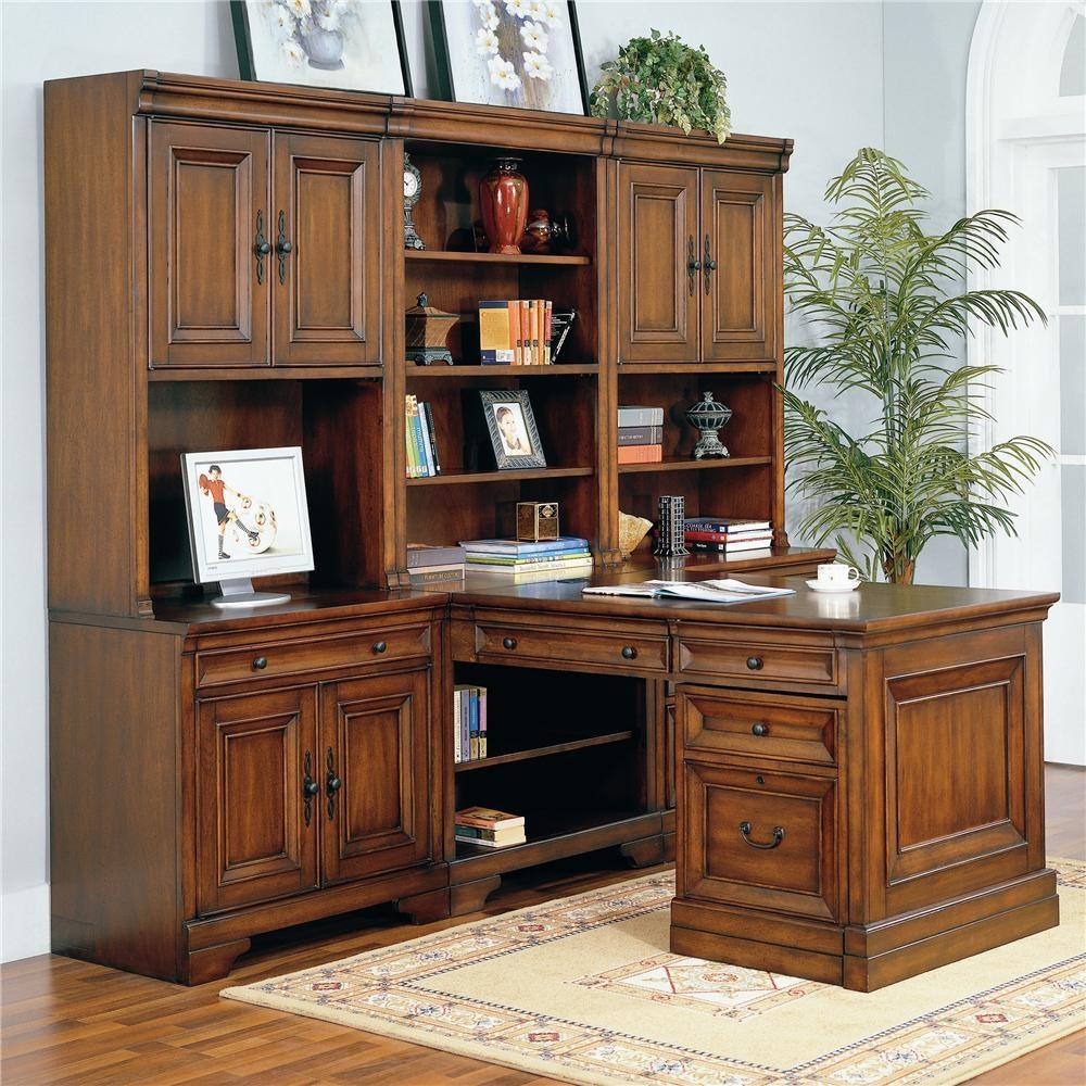aspen home home office richmond complete modular partners desk wall rh louisshanksfurniture com