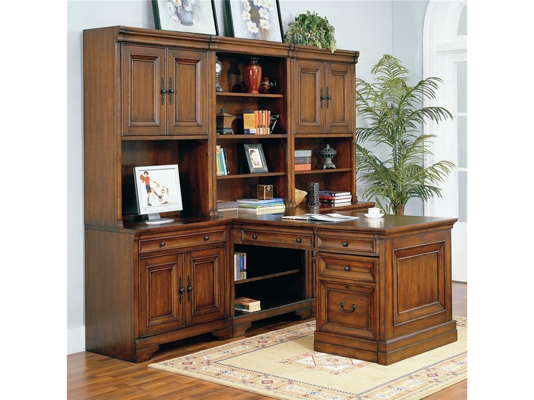Aspen Home Office Richmond Complete Modular Partners Desk Wall Unit I40 3 7pc At Louis Shanks