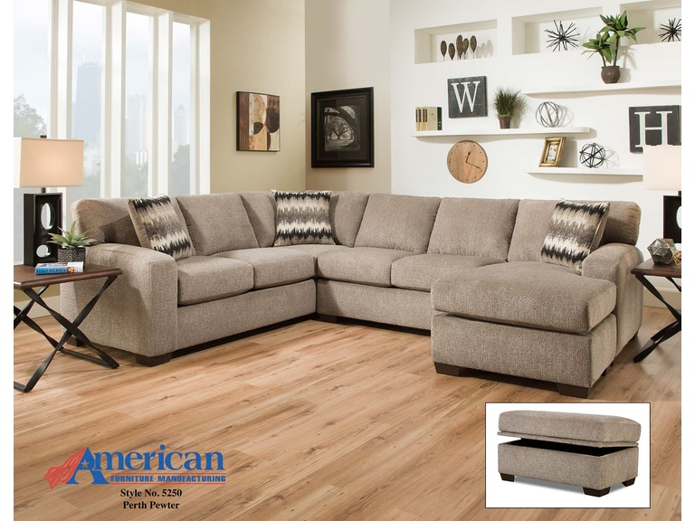 American Furniture Living Room 2pc Sectional 5240 Sectional