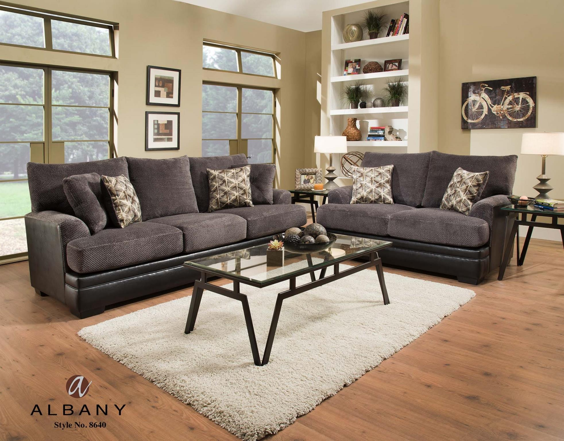 Albany Living Room SOFA Chocolate 8640 00 At Feceras Furniture U0026 Mattress