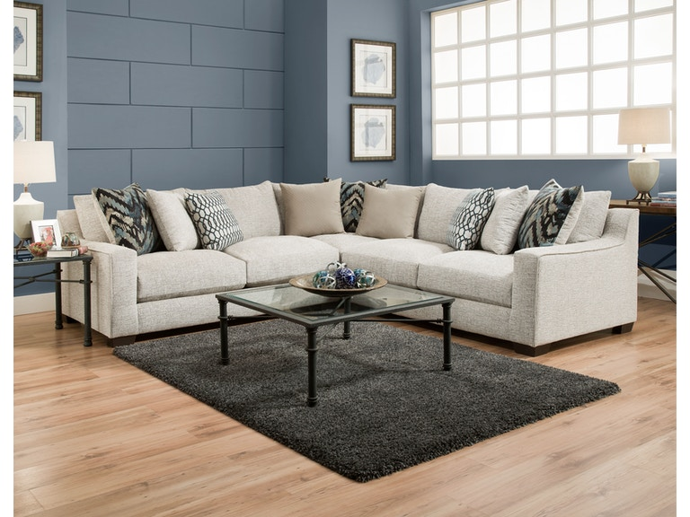 American Furniture Living Room 3pc Sectional 1440 Sectional