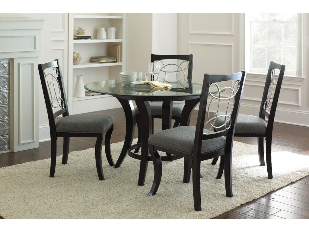 Steve Silver 5 Pc Dinette Cy480FABRICS/FINISHES/PIECES SHOWN IN  PHOTOGRAPHY, MAY NOT